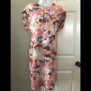 Black halo floral dress size 6